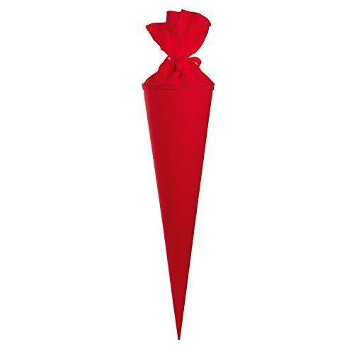 Goldbuch Bastelschultüte, Rohling zum Selbstgestalten mit Filzverschluss, 70 cm, Rot, 97823