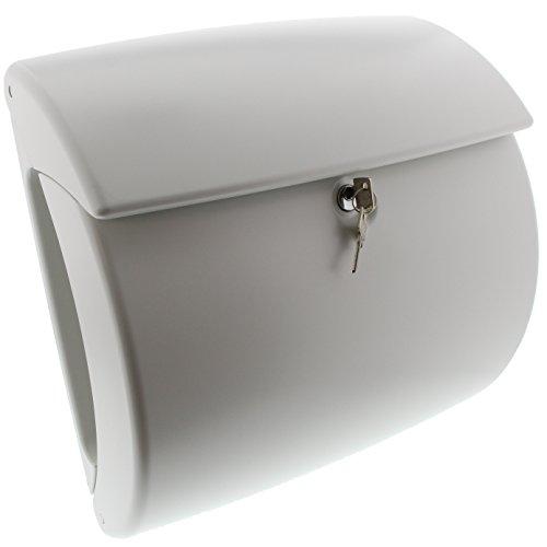 BURG-WÄCHTER, Kunststoff-Briefkasten mit integriertem Zeitungsfach, A4 Einwurf-Format, EU Norm EN 13724, Kiel 886 W, Weiß