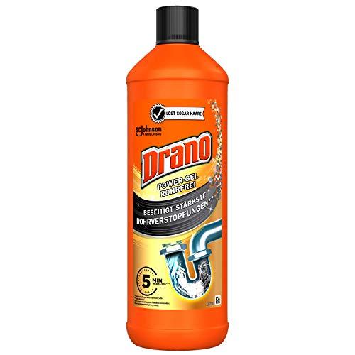 Mr Muscle Drano Power Rohrreiniger Gel Abflussreiniger, entfernt Verstopfungen, rohrfrei, 1er Pack (1 x 1000 ml)