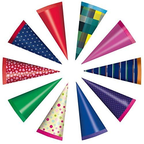 1 Stück Mini-Schultüte - 15 cm - in verschiedenen Farben - Farbe leider nicht wählbar
