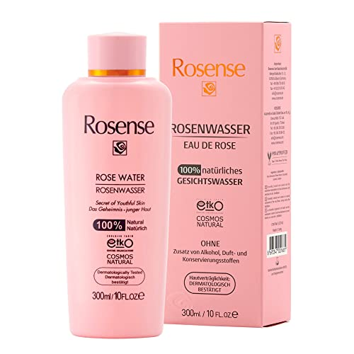 Rosense Rosenwasser 100{ea2465b537875092d2af608ee86c75aed98771ff317df7fda0371e497f185f7b} natürlich vegan, 1er Pack (1 x 300 ml)