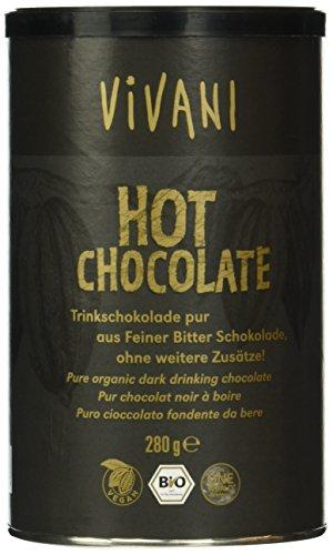 "Vivani Hot Chocolate\"" Trinkschokolade Pur 280g, 1er Pack (1 x 280 g) - Bio"