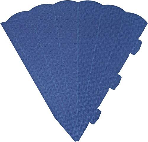 Heyda 204870083 Schultüten-Zuschnitt 3D (Höhe 69 cm, Wellkarton 3D, 300 g/m²) blau