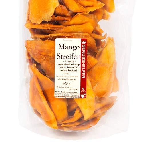 Mangos, Vorteilspack 1 kg - \'Die Leckersten!\', ohne Schwefel & Zuckerzusäte, ungeschwefelt, unbehandelt - Bremer-Gewürzhandel Genuss leben.