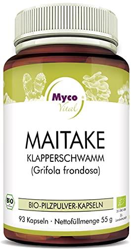 Maitake 93 Pilz-Kapseln je 650mg Maitake Pulver 100{71ad40297064f839b6fad3907c5021bed3f7526054d40c72366be29de1dd8062} Vegan & Bio Maitake Pilze Natürliche Alternative zu Maitake Extrakt Kapseln Bio