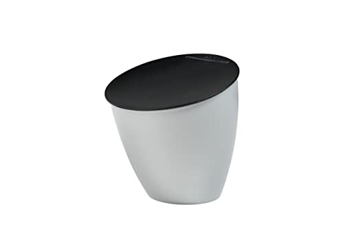 Mepal Abfallbehälter Calypso, Plastik, Silber, 17.5 x 18.4 cm