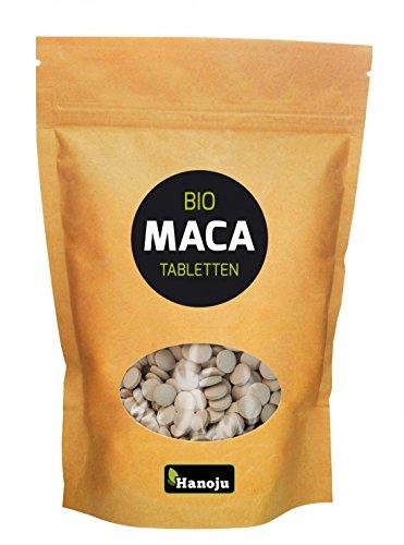 Hanoju MACA Premium, 1000 Tabletten, 500 mg 4:1 Extrakt, Bio-zertifiziert, 1er Pack (1 x 500 g)