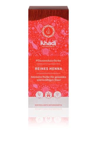 khadi Pflanzenhaarfarbe Reines Henna 100g I Haarfarbe Orangerot, Kupfer, Dunkelrot I Naturhaarfarbe 100{2199fcb4ddd3a942e691966f753f57753bfced9f91b0706a88bf0c60b06baea4} natürlich