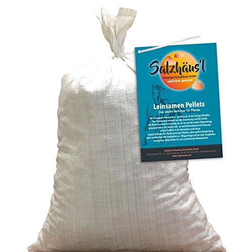 Bio Leinsamen Pellets tagesfrisch gepresst 10 kg/Ölmühle Omega/Pferde-Leckerli/Momentan Keine Lieferung ins Ausland!