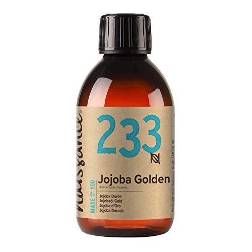 Naissance Jojobaöl Gold (Nr. 233) 250ml 100{ca28922184d59089a3ac23d53b573221f842c7649184587f85d4d081c8064c7e} reines, kaltgepresstes Öl