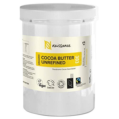 Naissance Kakaobutter unraffiniert BIO (Nr. 303) 1kg (1000g) - 100{2b119015f7c04c81dbd88b54f23b4baacec6617d729537d4a0017dc10be553e5} rein und natürlich