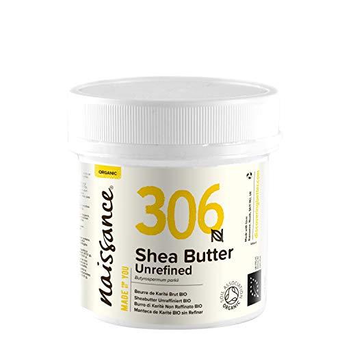 Naissance Sheabutter BIO (Nr. 306) 100g - rein und natürlich, unraffiniert, BIO zertifiziert, handgeknetet, vegan & parfümfrei - ethisch und nachhaltig hergestellt aus Ghana