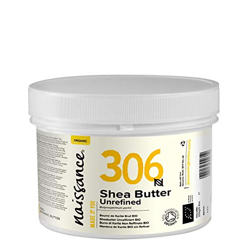 Naissance Sheabutter BIO 250g - rein und natürlich, unraffiniert, BIO zertifiziert, handgeknetet, vegan & parfümfrei - ethisch und nachhaltig hergestellt aus Ghana
