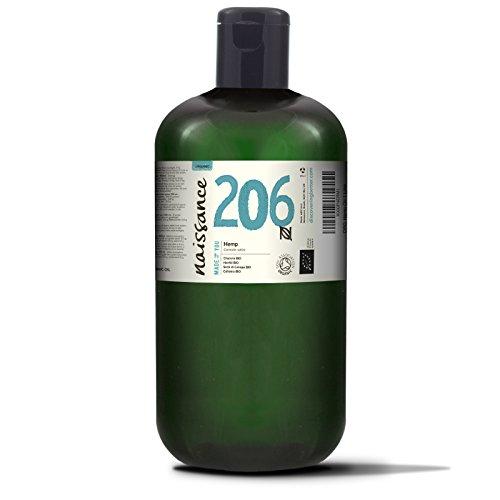 Naissance Hanfsamenöl BIO (Nr. 206) 1 Liter (1000ml) - nativ, kaltgepresst, 100{032324942728d6a2c43cb192f29761dfc5b367f6a24d5a49ca5cb64a45744eda} rein - vegan und tierversuchsfrei - reich an Omega-3 und Omega-6