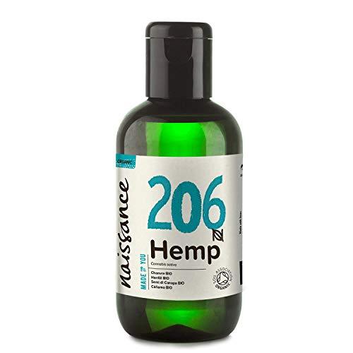 Naissance Hanfsamenöl BIO (Nr. 206) 100ml - nativ, kaltgepresst, 100{fef1bb4c5aa7ac821b4381ccb11bc94e25b3cb1b87b989fe3f55b6eb4cab9015} rein - vegan und tierversuchsfrei - reich an Omega-3 und Omega-6