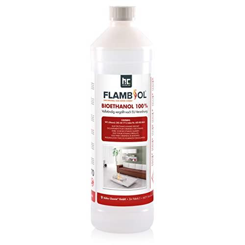 Höfer Chemie 6 L Bioethanol 100{ac03b4e1d51267f9c91a7819e0c49170109db2803908e2d6da77a79e81989b20} Premium (6 x 1 L) für Ethanol Kamin, Ethanol Feuerstelle, Ethanol Tischfeuer und Bioethanol Kamin
