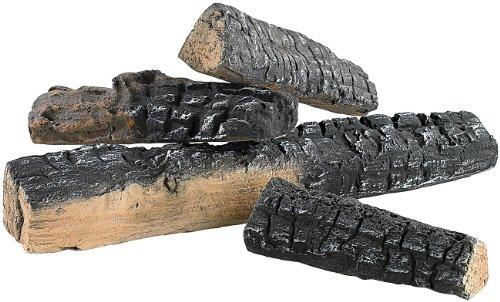 Carlo Milano Keramik Holz: Keramik-Dekoration Holzscheit für Bioethanol-Öfen 4 STK. (Deko Holzscheite)