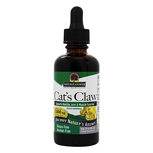 Nature\'s Answer | Katzenkralle (cat´s claw) | alkoholfrei | 1000 mg | 2 fl oz (60 ml) | vegan | glutenfrei