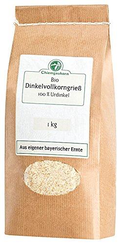 Chiemgaukorn Bio Dinkelgrieß Vollkorn 1 kg, Urdinkel