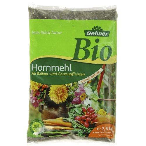 Dehner Bio Dünger, Hornmehl, für Balkon- und Gartenpflanzen, 2.5 kg, für ca. 25 qm