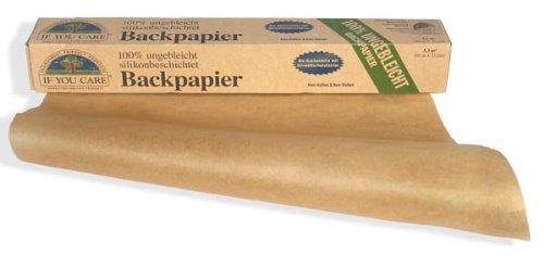 If You Care Backpapier Rolle - 100{82e0c30ea40a34d84e2445333b286c0eec44925cd2988aa6d5c348ba1b2757fb} ungebleicht aus FSC Papier, 2er Pack (2 x 10 m)