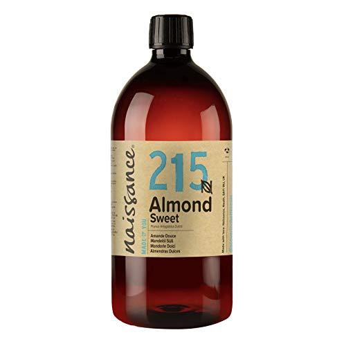Naissance natürliches Mandelöl süß (Nr. 215) 1 Liter - Vegan, gentechnikfrei - Ideal zur Haar- und Körperpflege, für Aromatherapie und als Basisöl für Massageöle