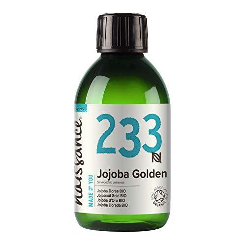 Naissance Jojobaöl Gold BIO (Nr. 233) 250ml 100{ca28922184d59089a3ac23d53b573221f842c7649184587f85d4d081c8064c7e} reines, kaltgepresstes, bio zertifiziertes Öl
