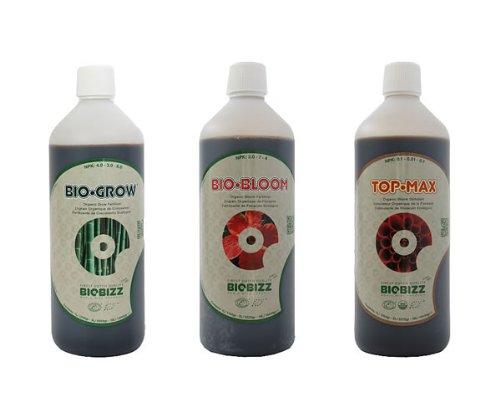 BioBizz - Bio Grow, Bio Bloom und Top Max, je 500 ml, Düngemittel