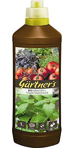 Gärtner\'s Bio Dünger für Kräuter + Tomaten 1 Liter