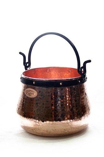CopperGarden® Kupferkessel ❀ 30 Liter ❀ Hexenkessel ❀ Mit viel Liebe für Sie handgeschmiedet ❀ auch für Feuerzangenbowle