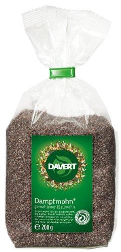 Davert Dampfmohn gemahlener Blaumohn, 2er Pack (2 x 200 g) - Bio