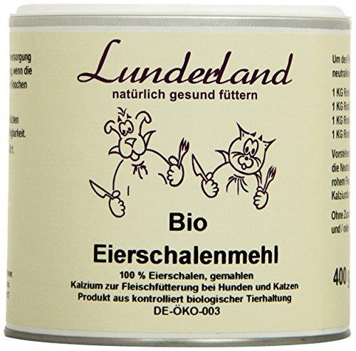 Lunderland - Bio-Eierschalenmehl, 400 g, 1er Pack (1 x 400 g)