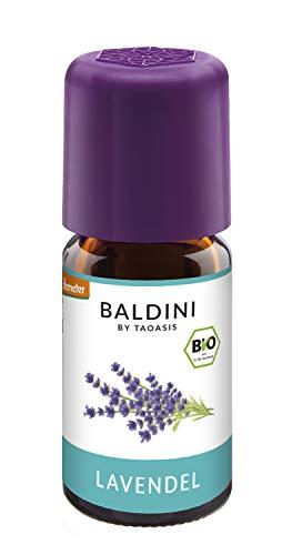 Baldini - Lavendelöl BIO, 100{eff15164cef93e4f07fd8e89888917922f9b95533b003c5002ee901180047618} naturreines ätherisches BIO Lavendel Öl fein aus Frankreich, Bio Aroma, 5 ml