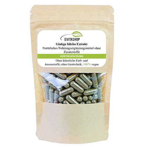 Ginkgo Extrakt Kapseln (Ginkgo biloba) | 1 Packung = 60 x 300 mg | Ohne Zusatzstoffe | 100{453995b1a3f769ade837a26ac1019ca68b700c6d24f6d821a9483df56ba4eb3e} vegan | Hochdosiertes Extrakt | GMP-zertifiziert | Made in Germany