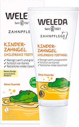 WELEDA Kinder Zahngel, Naturkosmetik Zahncreme zur natürlichen Zahnpflege von Milchzähnen und dem Zahnfleisch von Kindern und Babys, 50 ml