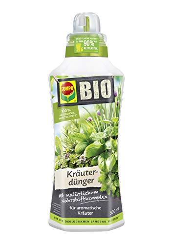 COMPO BIO Kräuterdünger für alle Gewürzpflanzen und Kräuter, Natürlicher Spezial-Flüssigdünger, 500 ml