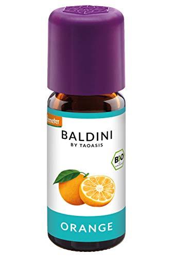 Baldini - Orangenöl BIO, 100{41294b5d94d2174d7267328f86a872b0c06f5cfde92494458383fa960323ba46} naturreines ätherisches BIO Orangen Öl, Bio Aroma, 10 ml