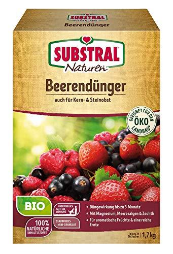 Naturen Bio Beerendünger, Organisch-mineralischer Volldünger für Beerenobst, Kern und Steinobst mit natürlicher Langzeitwirkung, 1,7 kg