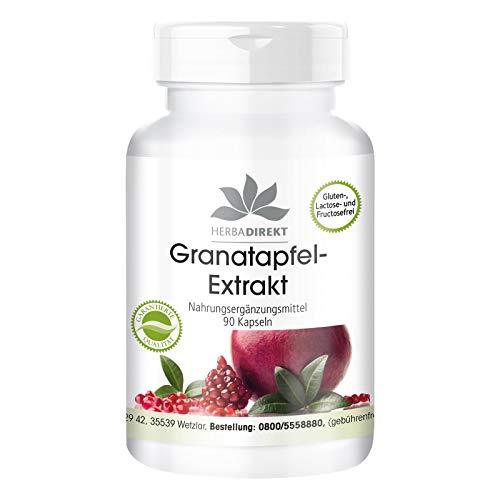 Warnke Gesundheitsprodukte Granatapfel-Extrakt mit 40{b913c831c7d6884e8c1255e0b251f5b78ecee1786ddc3e09af28a55aa1149a78} Ellagsäuren (90 Kapseln), 1er Pack (1 x 56 g)