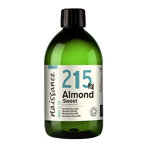 Naissance Mandelöl süß BIO (Nr. 215) 500ml - 100{f44ead65114973031b0b5cf8d2b8cfdd8ab3422646fe418db33b45445edc34b1} rein & natürlich, BIO zertifiziert, kaltgepresst, vegan, hexanfrei, gentechnikfrei Ideal für Massagen, Haut- und Haarpflege.