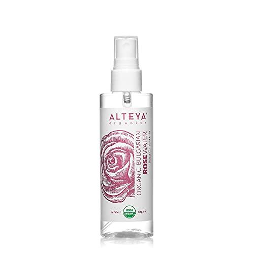 Alteya Bio Rosenwasser Spray 100ml- 100{1f7499b6858c5ce5f7350d6a957902d6350a64c015971e22b818de47750f2475} USDA Organic-zertifiziert Authentisch Rein Natürlich Wasserdampfdestilliertes Blütenwasser aus Damaszener Rosen, Direktverkauf vom Rosenanbauer Alteya Organics