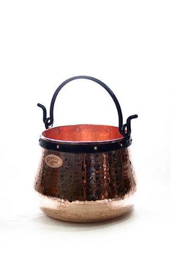 CopperGarden® Kupferkessel ❀ 10 Liter ❀ Hexenkessel ❀ mit viel Liebe handgeschmiedet ❀ auch für Feuerzangenbowle