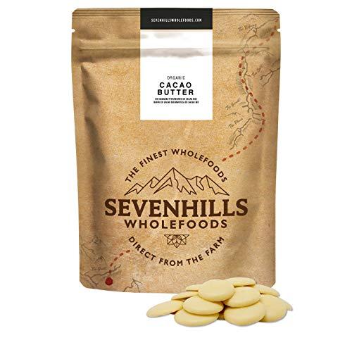 Sevenhills Wholefoods Kakaobutter Bio, Wafers 500g