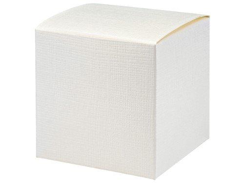 Unbekannt 10 Stück Kartonage Würfel Seta weiß, 10 x 10 x 10 cm, Gastgeschenk Geschenkverpackung Hochzeit Weihnachten Taufe