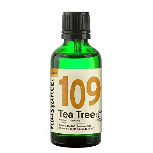 Naissance Teebaumöl Bio (Nr. 109) 50ml - 100{66c933dc8f453f730a2b24274248ab900118b3b541161bffd2914f00a6baa124} naturreines ätherisches Öl, natürlich, Bio-Zertifiziert, vegan