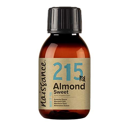 Naissance natürliches Mandelöl süß (Nr. 215) 100ml - Vegan, gentechnikfrei - Ideal zur Haar- und Körperpflege, für Aromatherapie und als Basisöl für Massageöle