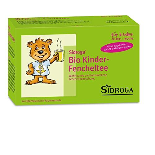 Sidroga Bio Kinder-Fencheltee - Heilpflanzentee für Kleinkinder und Babys bei Bauchschmerzen - 20 Filterbeutel à 2,0 g