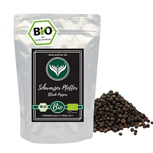 Azafran BIO Pfeffer - Pfefferkörner ganz Sri Lanka schwarz 500g