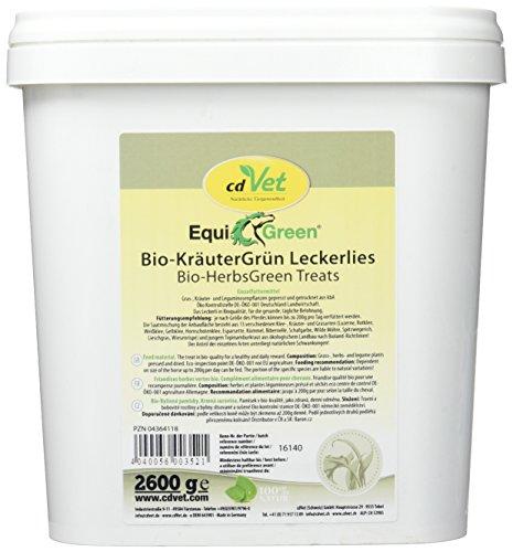cdVet Naturprodukte EquiGreen Bio-KräuterGrün Leckerlis 2,6 kg
