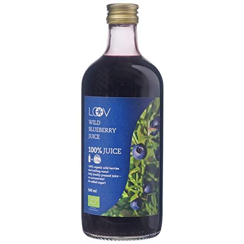 Bio-Saft aus Wilden Blaubeeren, 500 ml, Wilde Blaubeeren aus Nordischen Wäldern Gesammelt, 100{d8b5c6d2dc222d0f0b51bdf6863c322a89f3b0d1f7fa55354d5f0e3d4ac93439} aus Direkt Gepressten Beeren, Ohne Zuckerzusatz, Ohne Konzentrat, Ohne Wasserzusatz